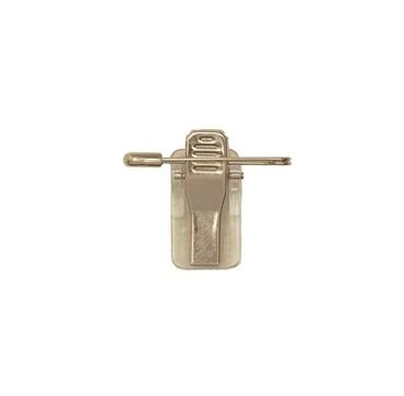 Clip croco en métal avec attache