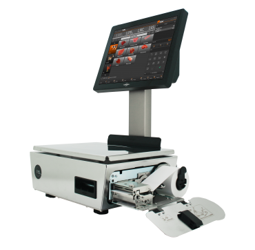 Weighing system touchscreen